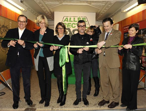 Inauguration de allee du recyclage